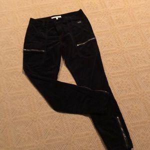 JOIE velvet black cargo pants